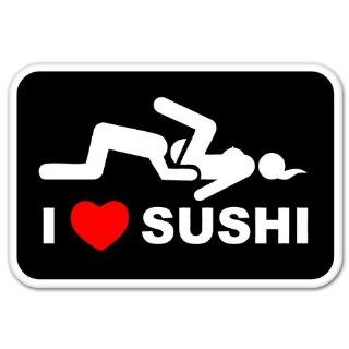 Love Sushi Adult Funny car bumper sticker window decal 5 x 3