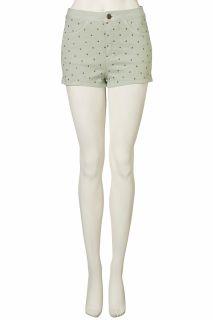 TOPSHOP Moto Mint Studded Hotpants Denim Shorts UK12 EU40 US8 BNWT