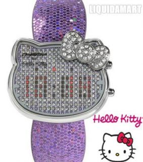 New Chronotech Hello Kitty Watch 35th Anniversary Silver Leather