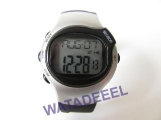 New Pulse Heart Rate Monitor Calories Counter Fitness Watch Silver 04