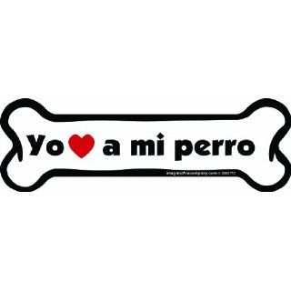Imagine This Bone Car Magnet, Yo Amo a Mi Perro, 2 Inch by
