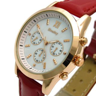 Henley Ladies Designer Watch Mother of Pearl Face Rose Gold Finish 354