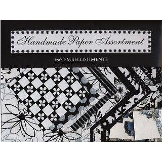 Shizen Handmade Paper Assortment  Black/White/Silver Arts
