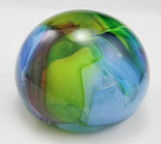 Colorful Pastel Unique Solid Glass Paperweight Collector Item Home