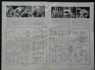 Oscillating Steam Engine w Reverse Gear 1941 How to Build Plans
