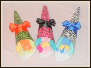 or Neutral Zebra Leopard Print Washcloth Bouquets Adorable Gift