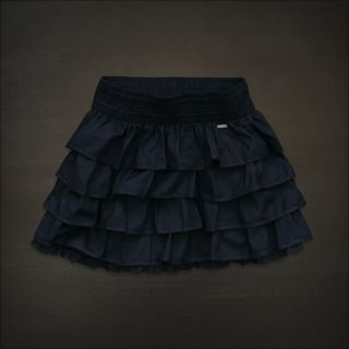 Hollister Women Bettys Tiered Ruffle Lace Mini Skirt Hobson NWT