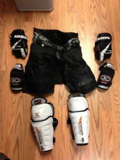 Set of Youth Hockey Gear CCM Easton Mission Itech
