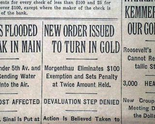 Gold New Order Pricing Henry Morgenthau Jr Coins 1933 Old NYC