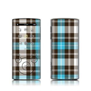 Turquoise Plaid Design Protective Decal Skin Sticker for