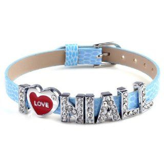 One direction I love niall blue band bracelet Wristband