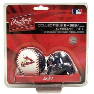 St. Louis Cardinals Micro Baseball + Helmet Replica Set