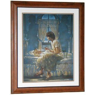 Ron DiCianni ANGELS UNSEEN FRAMED Mother Daughter Prayer