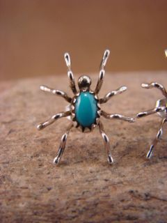 Sterling Silver Turquoise Spider Post Earrings by Spencer