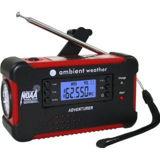 Ambient Weather WR 111B Emergency Solar Hand Crank AM/FM
