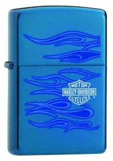 Fox Harley Davidson Ghost Zippo Lighter, Sapphire