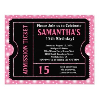 Quinceanera Pink Damask Soft Pink and White Personalized Invitations