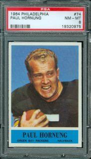 1964 Philadelphia Football 74 Paul Hornung PSA 8 High End