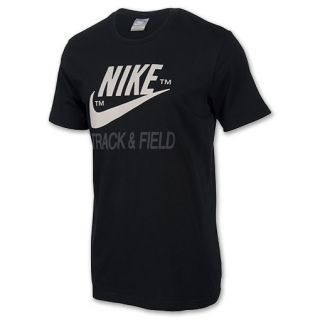 Mens Nike Track & Field Brand Tee Shirt Black