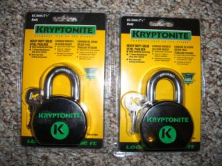 Kryptonite 2 High Security Padlocks Hasp Gate Door Lock