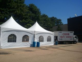 20 X 20 HIGH PEAK FRAME TENT WHITE/ COMMERCIAL PARTY TENT COOK EVENT