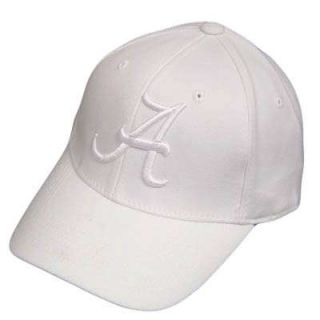 NCAA Flex Fit Hat Cap Alabama Crimson Tide White