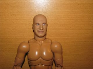 6th Scale Military Action Figure with Bald Head and Mouth for Cigar