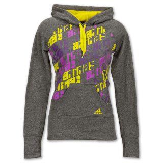 adidas Ultimate Womens Fleece Hoodie Purple Body