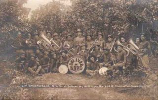 XA073 RPPC Bolivar MO 2nd Regiment Band Instrumnts 1915