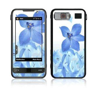 Blue Neon Flower Decorative Skin Cover Decal Sticker for