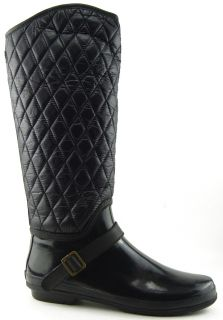 Sperry Top Sider Hingham Black Womens Designer Rain Snow Quilted Boots
