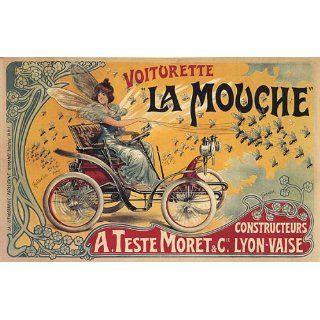 FAIRIES GIRL CAR LA MOUCHE PARIS FRANCE FRENCH VINTAGE