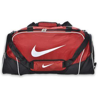 Nike Brasilia 4 Medium Duffel Bag Red/Black/White