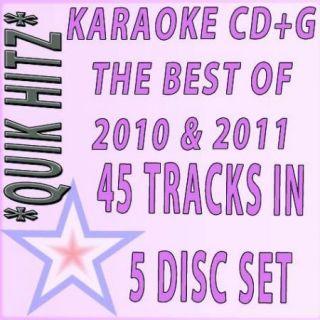 Disc Set Karaoke Pop Quik Hitz Best of 2010 2011 w Bruno Mars
