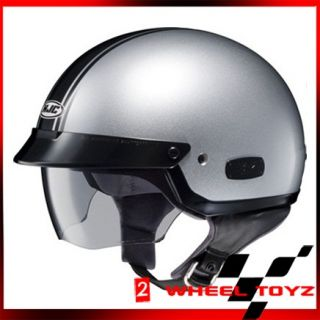 HJC Is 2 Schade Silver Black Open Face Motorcycle Helmet IS2 Size