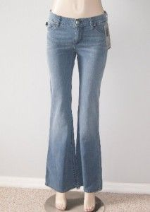 Heidi Klum by Jordache Flare Leg Stretch Jeans Pants Denim Size 27 New