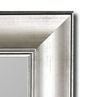 67 Torino Silver Hanging Wall Mirror Large USA Hitchcock Butterfield