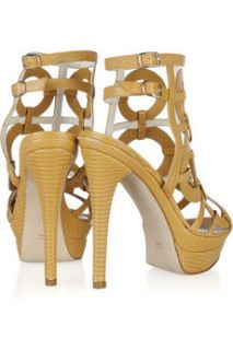 Abel Munoz Mirella lizard effect leather sandals   85% Off