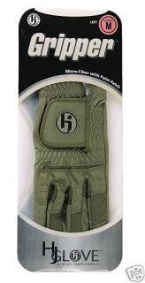 HJ Mens Gripper Golf Glove Med Large Left Hand Olive