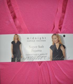 New CAROLE HOCHMAN 2 pc Shirt Top Pants Soft Pajama PJ Set MODAL Pink