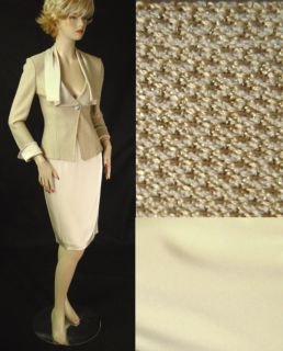 1990 NWT ST JOHN PIQUE KNIT SUIT sz 2 LIQUID SATIN DRAPED COLLAR CUFFS