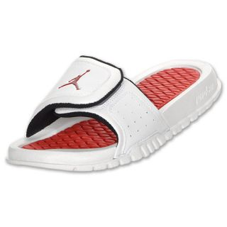 Kids Jordan Hydro Sandals White/Varsity Red/Black