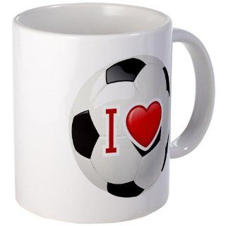 Mug (Coffee Drink Cup) I Love Soccer or Football