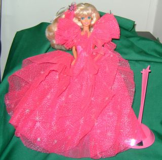 1990 Happy Holiday Barbie Doll Gorgeous Gown Bargain