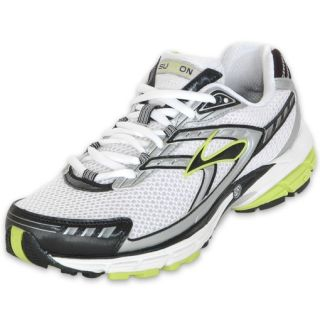 Brooks Mens Summon Running Shoe White/Lime/Black