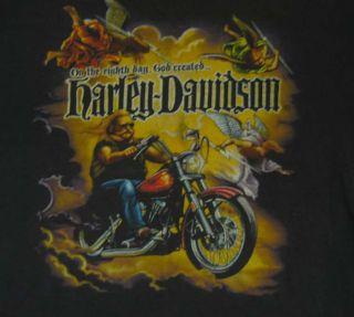 Vtg Harley Davidson San Diego 80s Black T Shirt L Distressed Biker