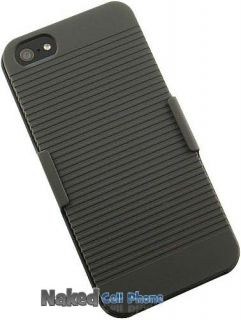 HARD CASE COVER + BELT CLIP HOLSTER STAND FOR APPLE iPHONE 5