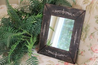 Shabby Cottage Chic Wall Mirror Home Decor Black