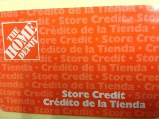 Home Depot Merchandise Gift Card Store Credit $ 500