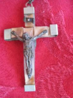 Vintage LOURDES FRANCE Holy Water Vial CATHOLIC ROSARY BEADS #9